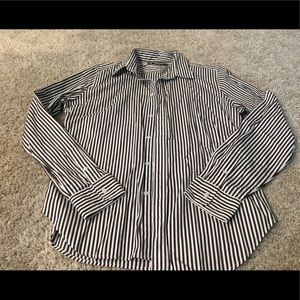 Brown and white striped Ralph Lauren Oxford